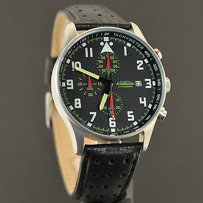 ASTROAVIA AIR CRAFT No.2 - 6 ZEIGER PROFI CHRONOGRAPH XL 42 mm FLIEGERUHR NEU