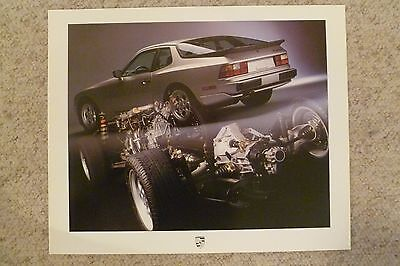1986 Porsche 944 Coupe Showroom Advertising Sales Poster RARE!! Awesome L@@K