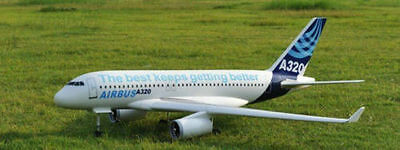 AIRBUS A320 scratch build R/c Plane Plans 59.5 in. wingspan  ELECTRIC DUCTED FAN