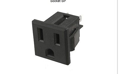5 pcs AC 125V 15A Panel Mount US Outlet Power Socket SP A445