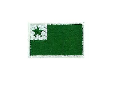 Flag patch patches embroidered iron / sew badge backpack cloth esperanto