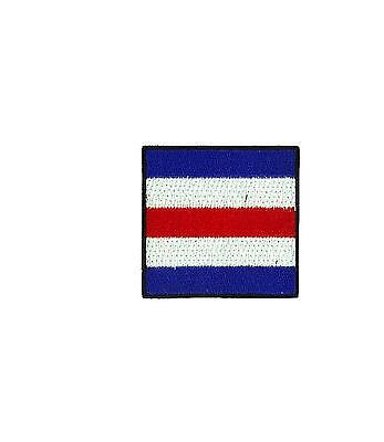 Flag patch embroidered international maritime nautical navy signal D delta