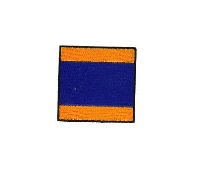 Flag patch embroidered international maritime nautical navy signal Z ZULU