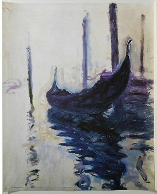 Monet Gondolas (LAMINATED) POSTER (40x50cm) New Licensed Art