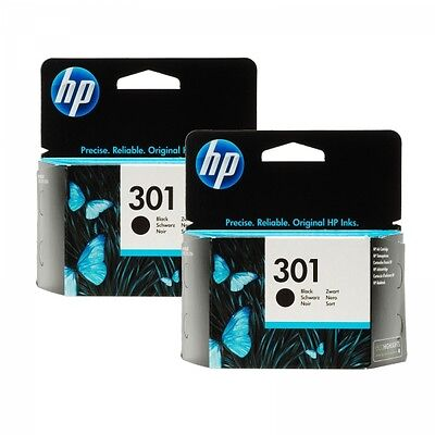 HP 301 ( CH561E ) Genuine / Original Black Ink Cartridge x 2 ( Twin Pack )
