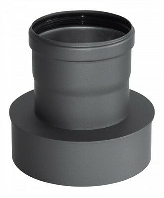 Stove pipe for Pellet stove Reduced 80 wide on 150eng grey cast iron
