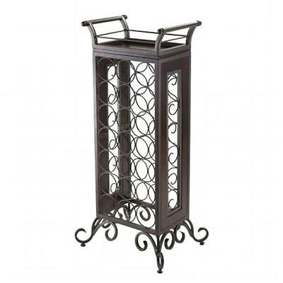 Winsome Trading 87716 Silvano Wine Rack with Removable Tray, Dark Bronze