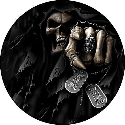 Spare Wheel Cover Sticker SKULL SKELETON YOUR NEXT 4x4 Land Rover Rav Vitara