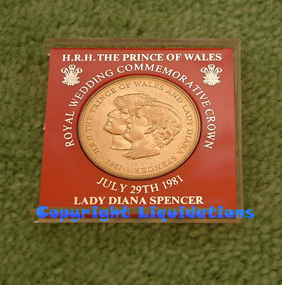 Silver Crown Coin H.R.H The Prince of Wales Royal Wedding Lady Diana Spencer1981