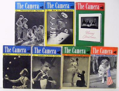 "7 Rare Vintage Issues Of "" The Camera "" Magazine 1945 Photography"