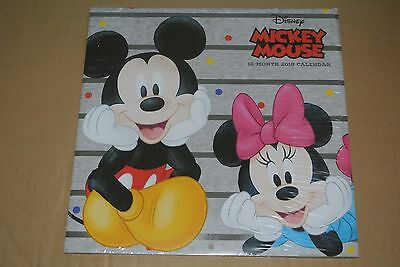 Disney Mickey Mouse 12 month 2018 Wall Calendar NEW Factory Sealed Donald Duck +
