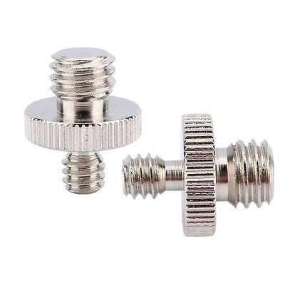 "2pcs 1/4"" Male to 3/8"" Male Threaded Metal Screw Adapter For Camera Tripod Stand"