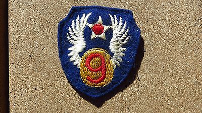 ORIGINAL WWII USAAF 9TH AIR FORCE PATCH WW2 SSI Insignia ENGLISH MADE