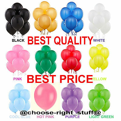 30 -100 Latex LARGE helium Ballon Quality Party Birthday Wedding Balloons baloon
