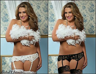Sexy Women's Plus Size 4xl-6xl Lace Adjustable Garter Suspender Stockings  Set