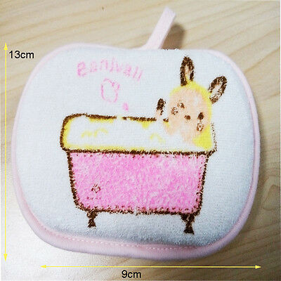 Softly Newborn Children Baby Bath Rub Cotton Shower Sponge Bath Brush Hot 1PCS