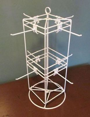 "AYS Retail 4 Sided 8 Peg Counter Top 6"" x 6"" Spinner Display Rack (White)"