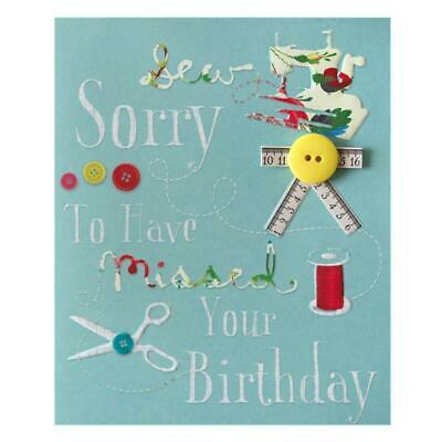 BELATED BIRTHDAY SEW Sorry Its Late Missing Charming Hallmark New Card