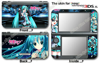 Hatsune Miku Amazing Vinyl Skin Sticker Decal Cover #1#0 for NEW Nintendo 3DS XL