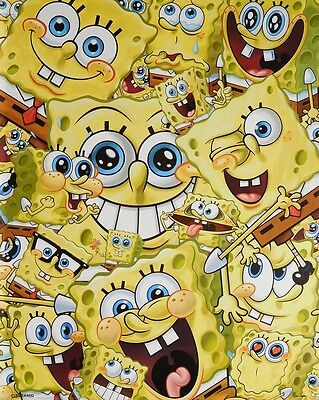 SPONGEBOB SQUAREPANTS  POSTER (40x50cm) EXPRESSIONS NEW LICENSED ART