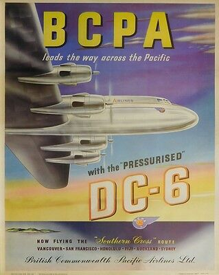 (LAMINATED) Bcpa Airlines POSTER (40x50cm) Vintage Travel New Licensed Art
