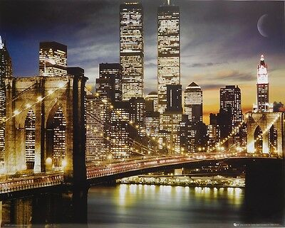 (LAMINATED) Brooklyn Bridge POSTER (40x50cm) New Licensed Art