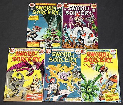 Vintage DC Bronze Age Sword of Sorcery 5pc High Grade Comic Lot #1-5 Fantasy