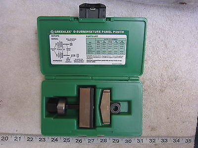 Greenlee 234 37-Pin D-Subminiature Panel Punch, Used