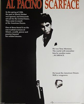 Al Pacino Scarface Poster (40X50Cm) Movie New Licensed Art