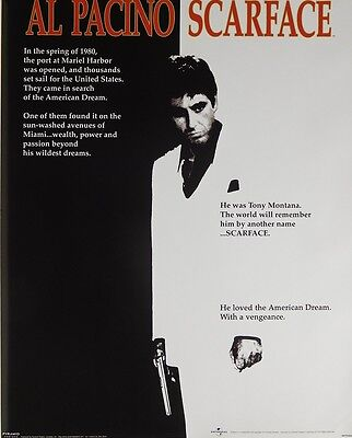 (Laminated) Al Pacino Scarface Poster (40X50Cm) Movie New Licensed Art