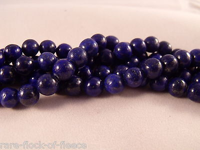 NATURAL LAPIS LAZULI BLUE LOOSE GEMSTONE ROUND STONE JEWELLERY MAKING BEADS 8mm