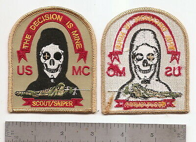 "#189  Usmc Scout Sniper Patch ""the Decision Is Mine"""
