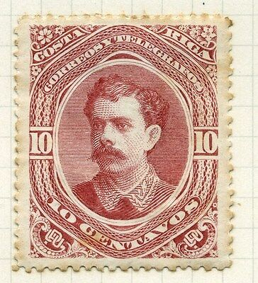 COSTA RICA;   1889 early classic Soto issue Mint hinged 10c. value ( tone spots