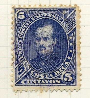 COSTA RICA;   1883 early classic Fernandez issue used 5c. value