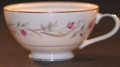 Vintage Empress China Rambling Rose Footed Tea Cups Made in Japan Pink Roses