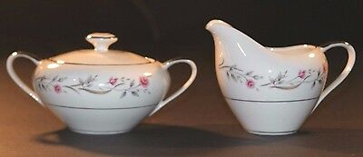 Empress China Rambling Rose Creamer Sugar Dishes Set