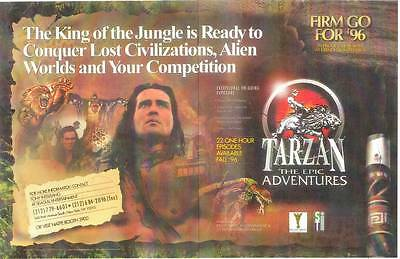 Vintage 1996 TARZAN THE EPIC ADVENTURES pre-release promotional poster 14 x 22