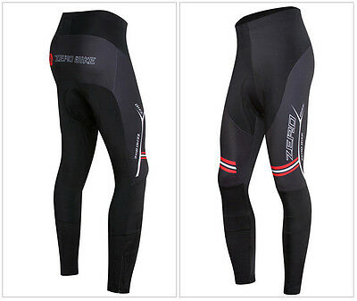 Outdoor Mens Pro Cycling Long Pants Bike Bicycle Padded Lycra Tights Trousers
