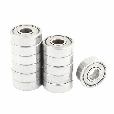 12 Pcs 608ZZ 22mm x 8mm x 7mm Single Row Deep Groove Ball Bearing
