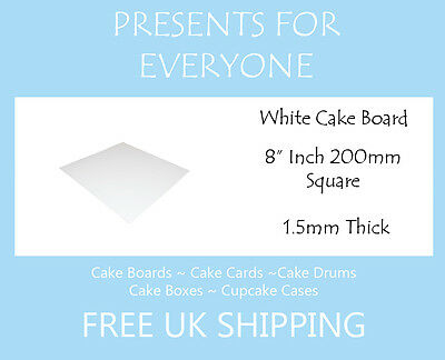 "10 x 8"" Square White Cake Board FREE SHIPPING"