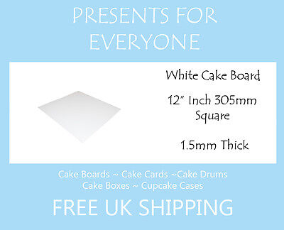 "10 x 12"" Square White Cake Board FREE SHIPPING"