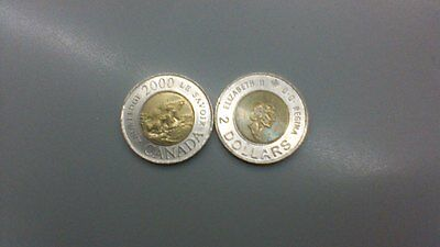 2 Dollars -Knowledge- Canadian Coin 2000 - Canada - Toonie - Circulated