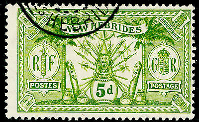 Sg24, 5d sage-green, VERY FINE used, CDS.