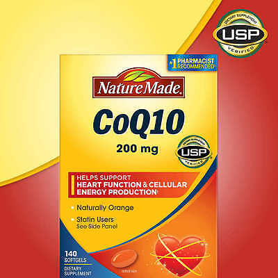 Nature Made CoQ10 200 mg 140 Softgels Heart Health Cellular Energy NEW!