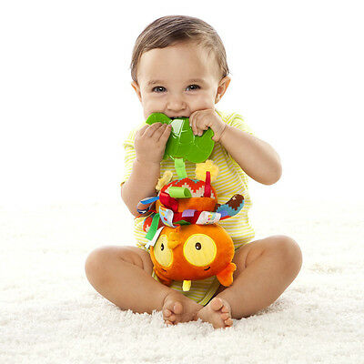 New Baby Infant Development Soft Owl Toy Teether Taggies Rattle Plush Doll Toys