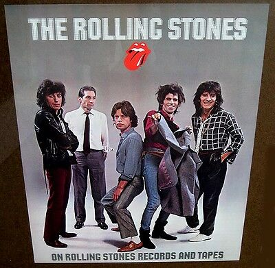 Rolling Stones the 1980's portrait official poster mint condition