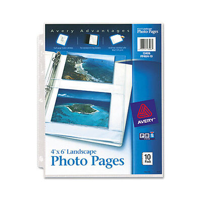 Avery Horizontal Photo Pages Acid Free 4x6 Pack of 10 (13406)