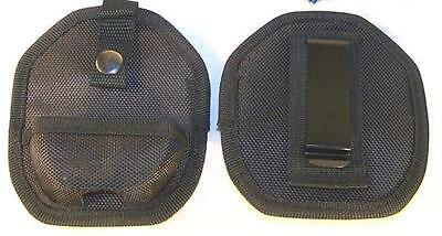 2 BLACK NYLON HANDCUFF belt CASE tactical police quality hand cuffs holder cases