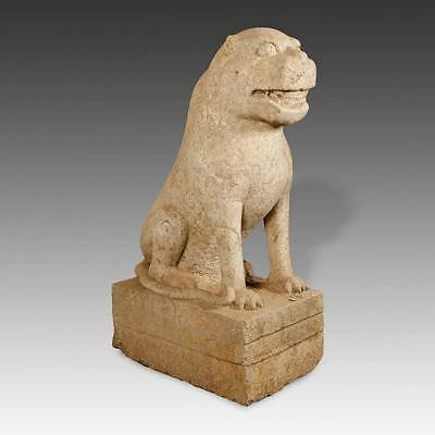 Rare Chinese Antique Mythological Guardian Foo Lion Stone Sung Dynasty China