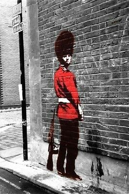(LAMINATED) BANKSY POSTER (42x59cm) QUEENS GUARD NEW ART